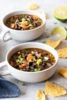 2 bowls of soup