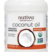 Nutiva Organic, Steam Refined Coconut Oil from non-GMO, Sustainably Farmed Coconuts, 15 Fluid Ounces