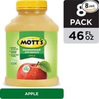 Mott's Unsweetened Applesauce, 46 Ounce Jar (Pack of 8)