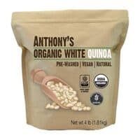 Anthony's Organic White Whole Grain Quinoa, 4lbs, Gluten Free & Non GMO