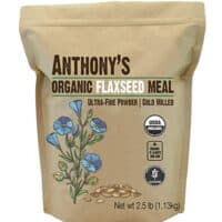 Anthony's Organic Flaxseed Meal, 2.5lb, Gluten Free, Ground Ultra Fine Powder, Cold Milled, Keto Friendly