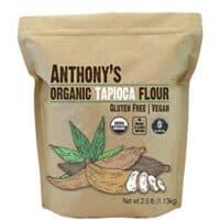 Anthony's Organic Tapioca Flour Starch, 2.5lbs, Gluten Free & Non GMO